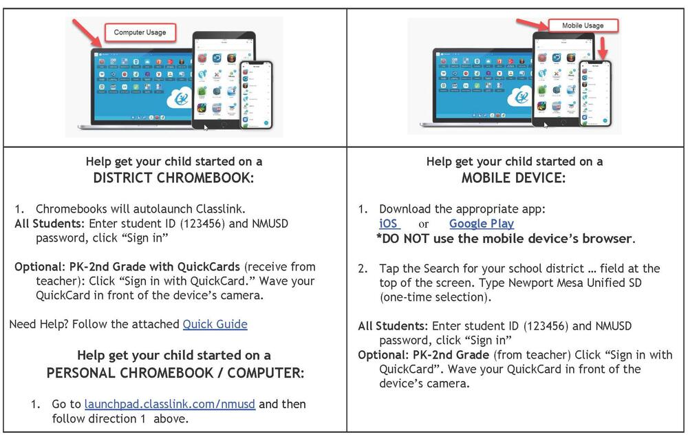 Classlink Instructions