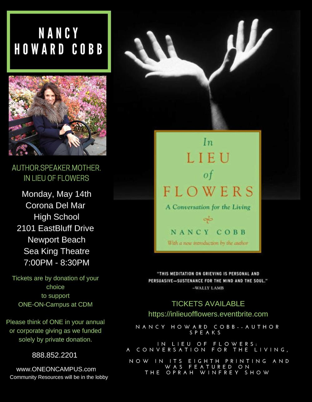 In Lieu of Flowers flyer