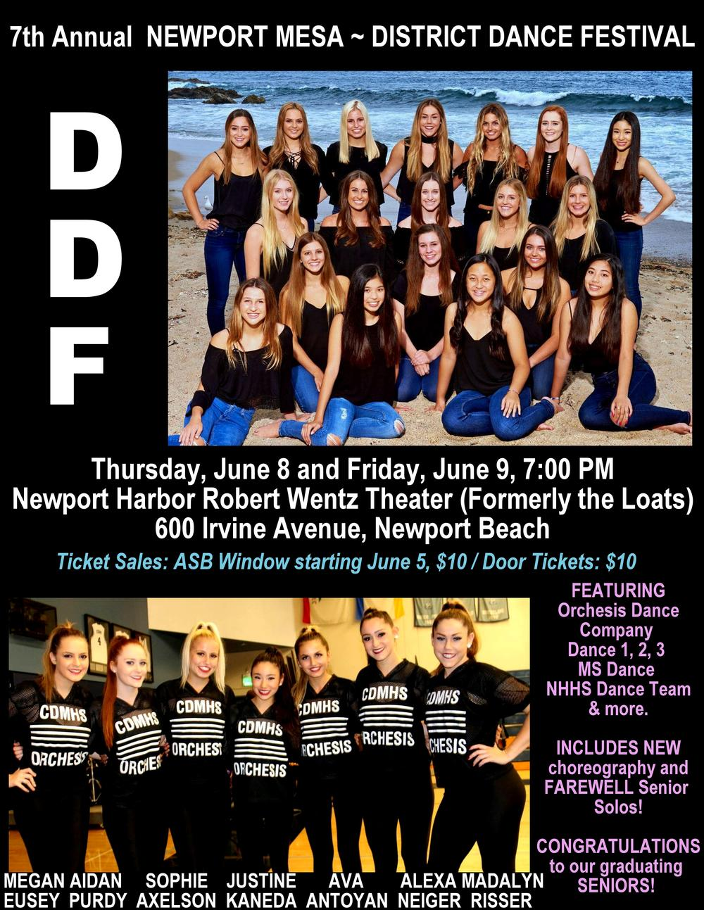 District Dancing Festival Flyer