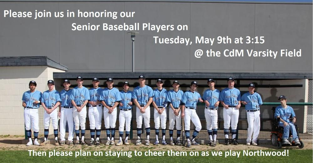 Baseball Senior Recognition